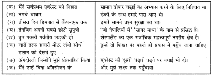 MCQ Questions for Class 9 Hindi Sparsh Chapter 3 एवरेस्ट मेरी शिखर यात्रा with Answers 1