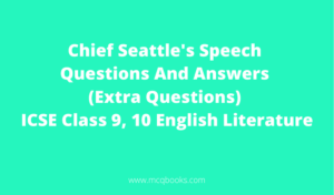 Chief Seattle's Speech Questions And Answers