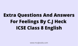 Extra Questions And Answers For Feelings By C.J Heck