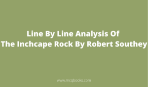 Line By Line Analysis Of The Inchcape Rock By Robert Southey