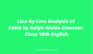 Line By Line Analysis of Fable by Ralph Waldo Emerson