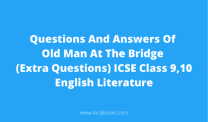 Questions And Answers Of Old Man At The Bridge