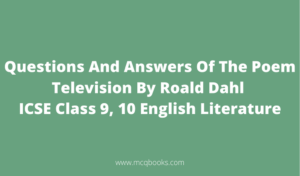 Questions And Answers Of The Poem Television