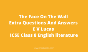 The Face On The Wall Extra Questions And Answers